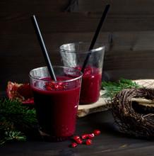 Rote Bete Smoothie Mit Granatapfel