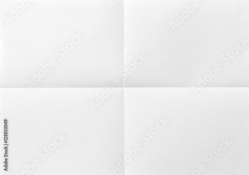 Canvastavla A4 White sheet of paper folded