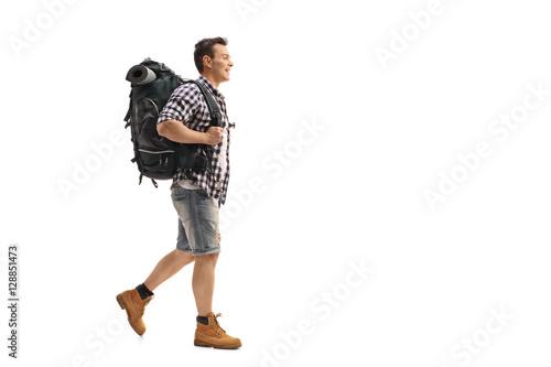 Fotografie, Obraz  Young hiker walking