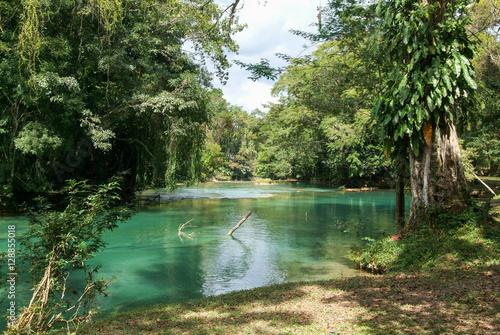 Pinturas sobre lienzo  Aqua Azul waterfall on Chiapas