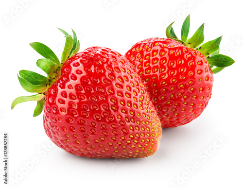 Foto op Aluminium Vruchten Strawberry isolated on white background. With clipping path.