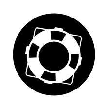 Lifebuoy Icon Illustration Design