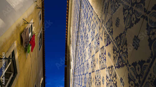 Photo  Traditional Lisboa tiles, you can see them on a lot of buildings.