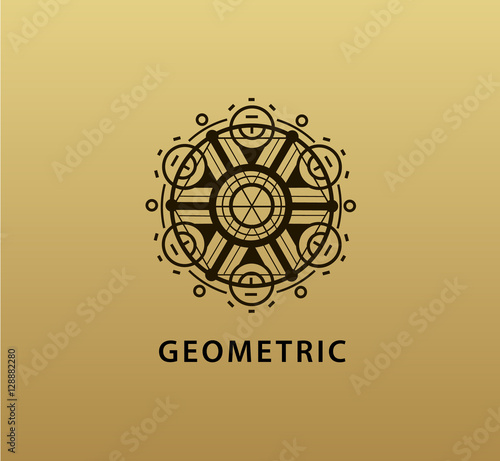 Vector Abstract Geometric Symbol Linear Alchemy Occult