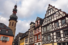 Half-timbered Buildings On The...