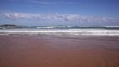 View of the waves in the Cantabrian sea