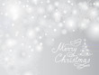 Merry Christmas Holiday blur background with lights, Snowflakes, Christmas tree, handwritten lettering