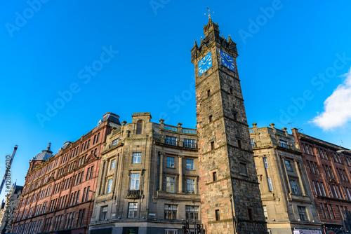 Glasgow city centre - beautiful architecture - clock tower
