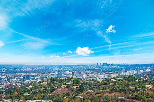 Keuken foto achterwand Los Angeles Los Angeles under a blue sky