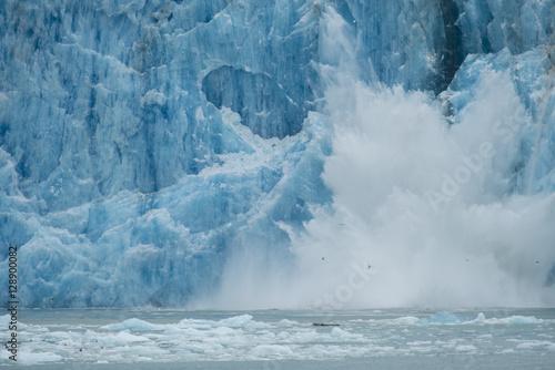 Photo Stands Glaciers Icefall, Dawes Glacier, Alaska