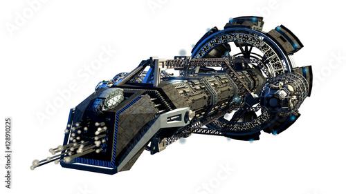 Fotografía 3d illustration of an interstellar spaceship for futuristic deep space travel or