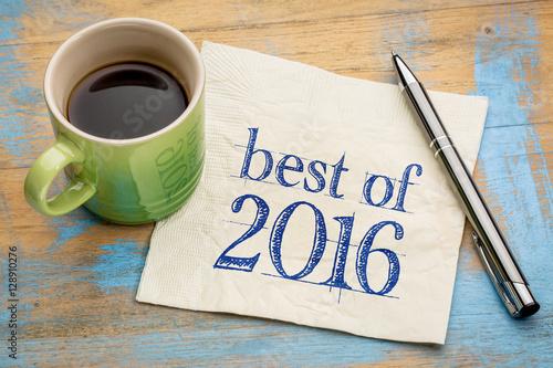 Fotografie, Obraz  best of 2016 napkin writing