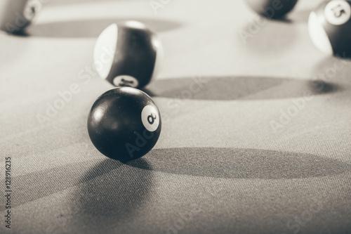 Slika na platnu Snooker ball on billiard table