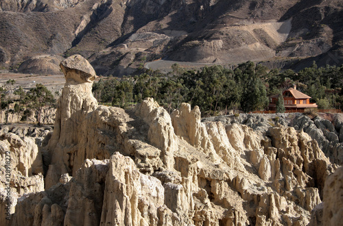 Lunar Landscape In Moon Valley Valle De La Luna La Paz Bolivia South America Buy This Stock Photo And Explore Similar Images At Adobe Stock Adobe Stock