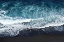 Beach Aerial , Black Sand Beach Aerial