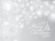 Christmas Holiday background with Snowflakes, Christmas tree, Handwritten lettering Merry Christmas