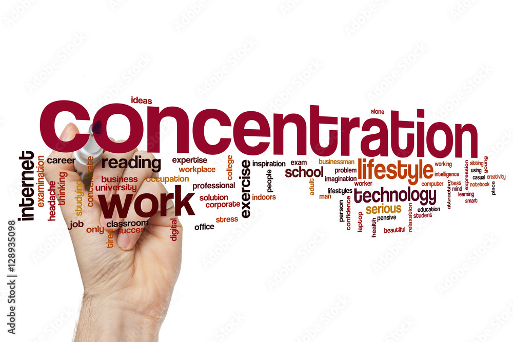 Fototapeta Concentration word cloud