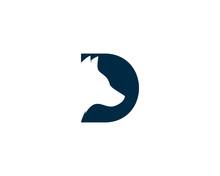 Initial Letter D Dog Logo Design Template