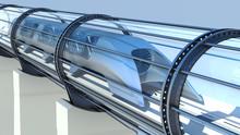 Monorail Futuristic Train In T...