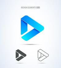 Vector Play Logo Icon. Video A...