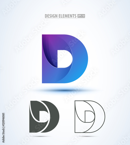 D company vector logo sign and symbol design. Vector abstract design ...