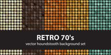 "Houndstooth Pattern Set ""Retro..."