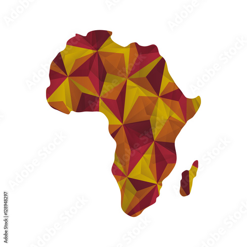 Fotografie, Tablou Africa map silhouette icon vector illustration graphic design