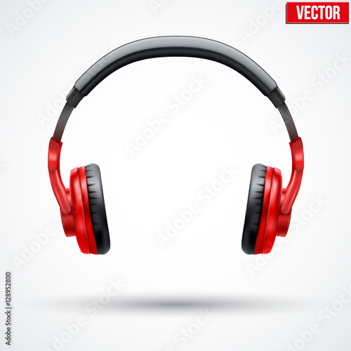 Photo  Realistic black Headphones