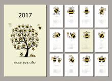 Funny Bees Calendar 2017 Design