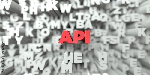 api red text on typography background 3d rendered royalty free