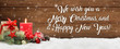 canvas print picture - We wish you a Merry Christmas