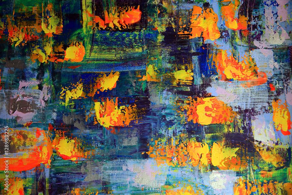 Fototapeta Abstract art painting