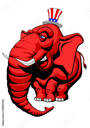 American Red Elephant Symbol Of The Republicans Buy This Stock