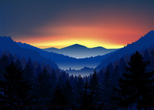 Panorama Of Mountains. Valley(...