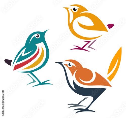 Valokuva  Stylized Birds