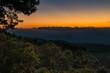 Sunset on Doi Mae Taman mountain