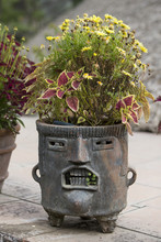 Fancy Mayan Planter With Face ...
