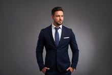 Confident Elegant Young Man