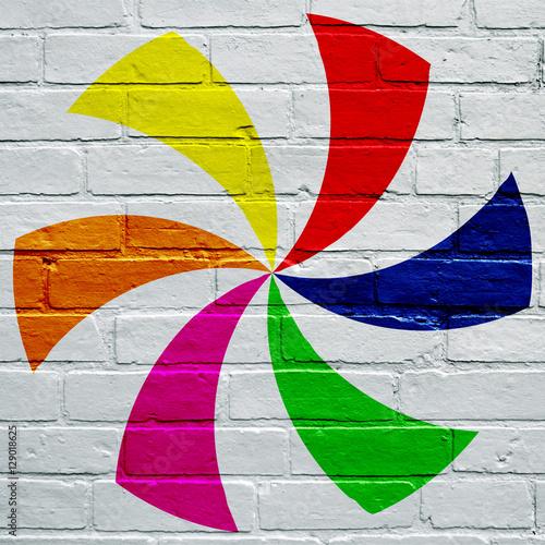 Fotografie, Obraz  Art urbain, hélice multicolore