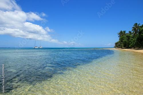 Canvas Prints Ocean Clear water at Pangaimotu island near Tongatapu island in Tonga
