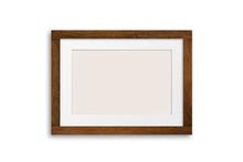 Dark Brown Wooden Frame Mock Up