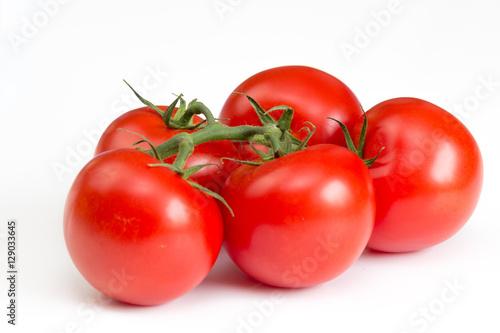 Fotografía  Tomaten auf weißem Hintergrund