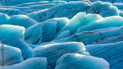 Photo sur Toile Glaciers Gletschereis in der Sonne