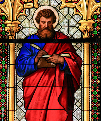 Fotografia, Obraz Stained Glass - St Mark the Evangelist