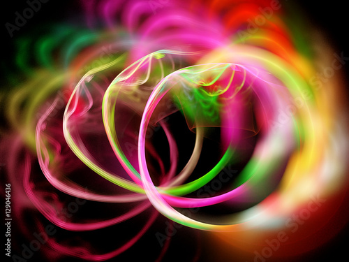 Foto op Plexiglas Fractal waves Abstract fractal background