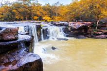 Tat Ton Waterfall In Tat-Ton National Park In Chaiyaphum Provinc
