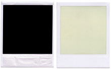 Black Polaroid Border Frame Front And Back.
