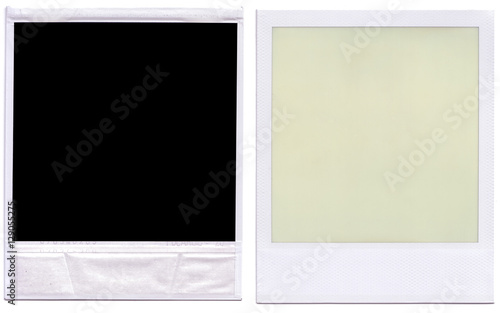 Black polaroid border frame front and back. - Buy this stock photo ...