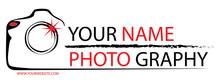 Photographer Logo For Design Or Website.