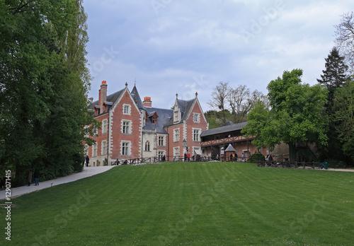 Foto auf AluDibond Stadt am Wasser Clos Lucé Mansion, house where Leonardo da Vinci lived